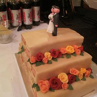 battenberg wedding cake - Cake by countrybumpkincakes