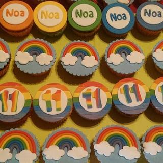 Rainbow cupcakes for Noa