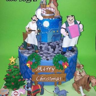 Lady And The Tramp Christmas Cake - Cake by Lucia Busico