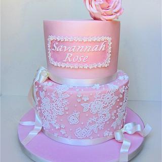 Savannah Rose Cake Lace Cake