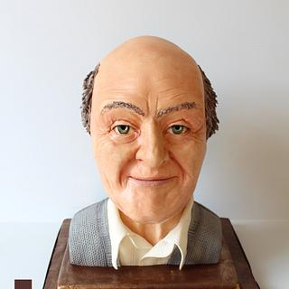 Roald Dahl edible sculpted bust