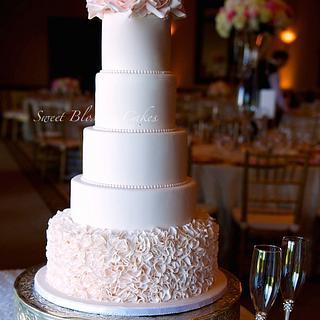 Ruffles and roses wedding cake - Cake by Tatyana