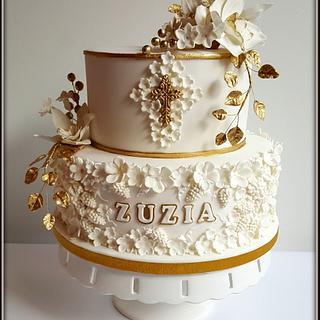 Girl communion cake