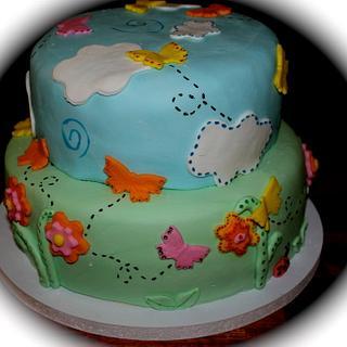 Sunnyday butterfly cake