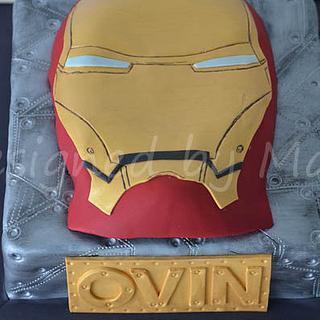 """Iron man"" bithday cake"