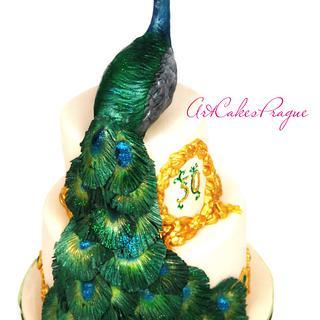 Peacock birthday cake