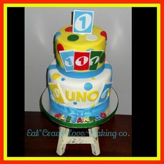 UNO 1st. birthday cake
