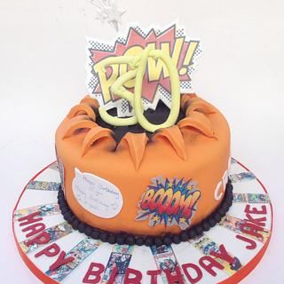 30th Comic Book Themed Cake