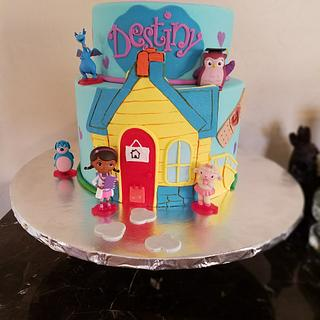 Doc Mcstuffins - Cake by Sonia