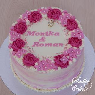 Pink wedding cake - Cake by Dadka Cakes