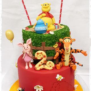 Pooh Bear and Friends birthday cake