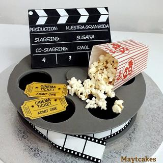 Cinema wedding cake