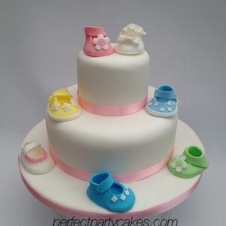 Shoe christening cake - Cake by Perfect Party Cakes (Sharon Ward)