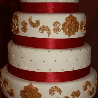 Indian Wedding Cake - Cake by The SweetBerry