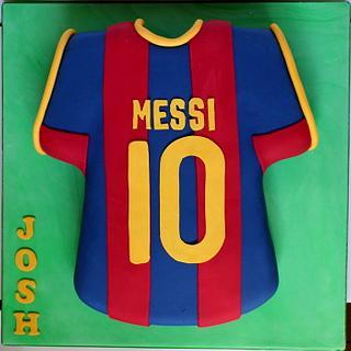 Messi Football Shirt Cake - Cake by Dollybird Bakes