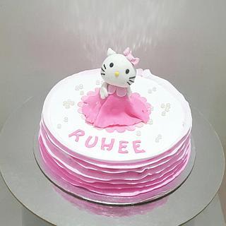 Hello kitty - Cake by Urvi Zaveri