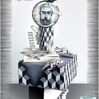 """Primavera con Arte"" Collab - M.C Escher - Cake by Mayer Rosales | mayer's cakes"