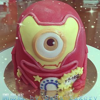 iron man x minion - Cake by SaSaBakery