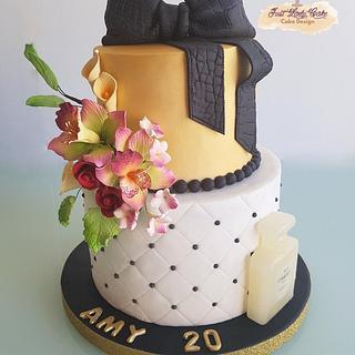 Girly chic gold cake - Cake by justladycake