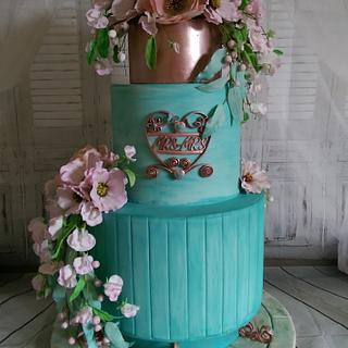 Garden wedding cake - Cake by MySugarFairyCakes