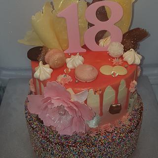 Sweet 18th cake