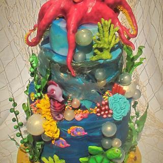 Under water  UV celebration cake