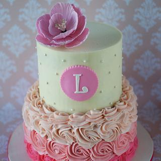 Ombre Baptism Cake for Lily