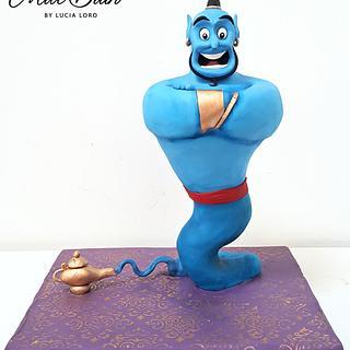 Aladding Genie Standing Cake