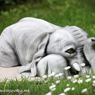 Baby Elephant Cake 'Dumbo'