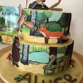 Completely hand painted gruffalo cake