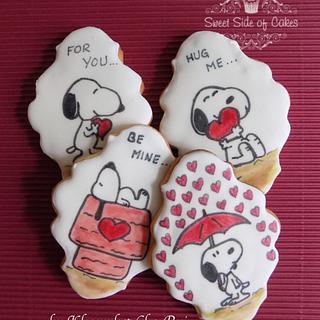 Valentine's Snoopy Cookies