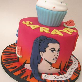 Katy Perry Themed Birthday Cake