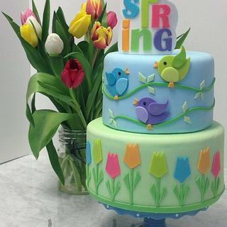 Spring Cake - Cake by BumbleBake