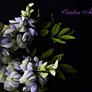 free formed sugar flowers #Wisteria