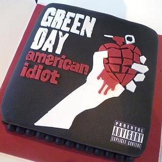 Green Day album Cover cake