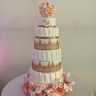 Summer flowers wedding cake - Cake by Mimi's Sweet Treats