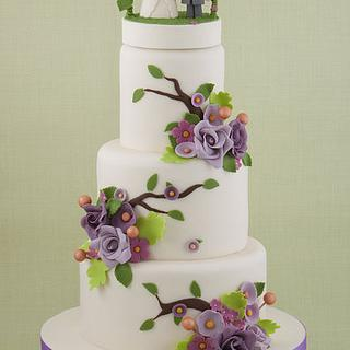 Flower Arch Wedding Cake
