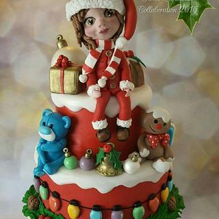 Christmas  collab cake