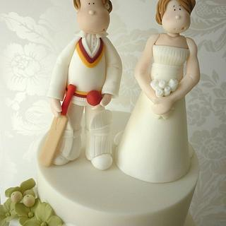 Cricketer wedding cake