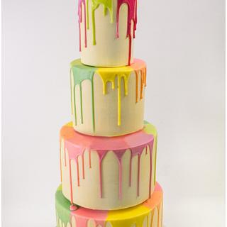 Dripping Rainbow Cake