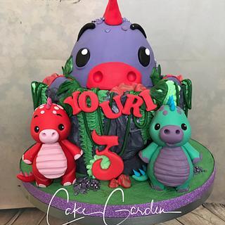 Dino cake - Cake by Cake Garden