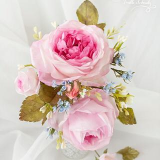 Wafer Paper Garden Roses