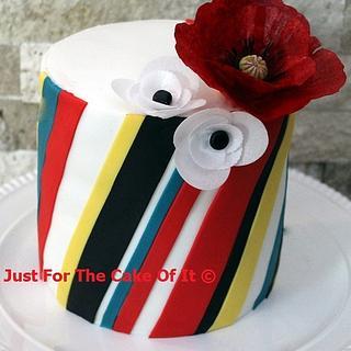 "Wafer ""poppy"" and stripes"