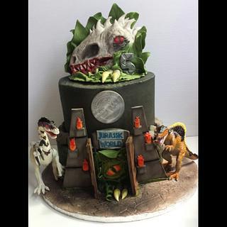 Jurassic world  - Cake by Jenn Szebeledy  ( Cakeartbyjenn_ )
