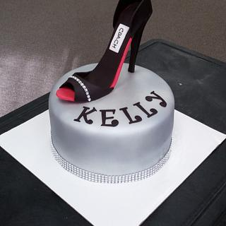 My first stiletto shoe cake!