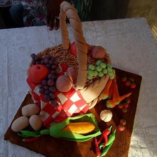 fruits and vegetable basket
