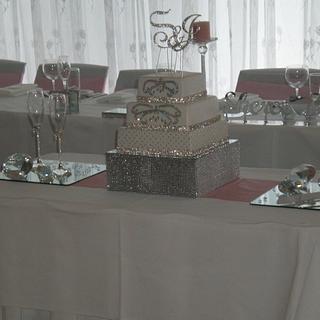 """""""Bling"""" Wedding cake"""