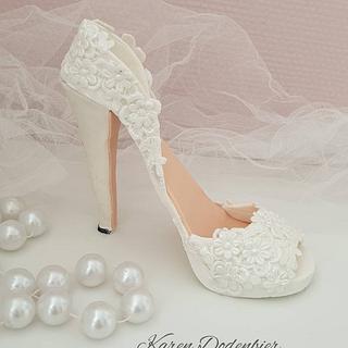 High heel shoe - Cake by Karen Dodenbier