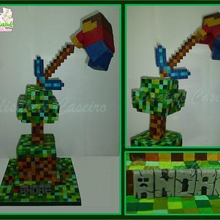 Gravity defying Minecraft cake  - Cake by Bety'Sugarland by Elisabete Caseiro