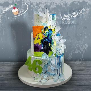 Valentino Rossi gil cake